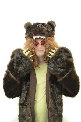 Bear Costume Men (Workaholics Bear Coat Nathan Blake Grizzly Costume Blake Anderson)