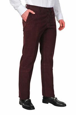 Incotex Pants R Men's 36 Regular Fit Claret Red Cotton Plain PLAIN autumn-winter