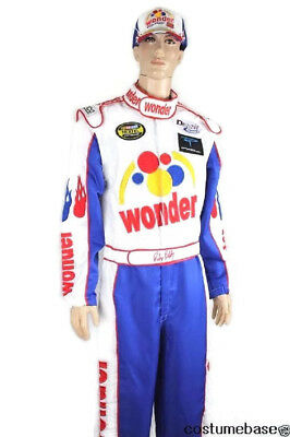 Ricky Bobby NASCAR Jumpsuit + Cap Full Costume TALLADEGA NIGHTS
