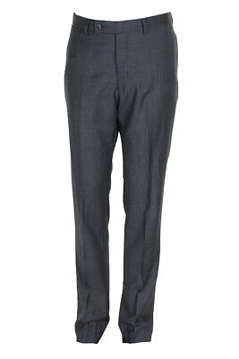 Calvin Klein Mens Grey Flat Front Unhemmed Dress Pants 33 Clothing, Shoes & Accessories