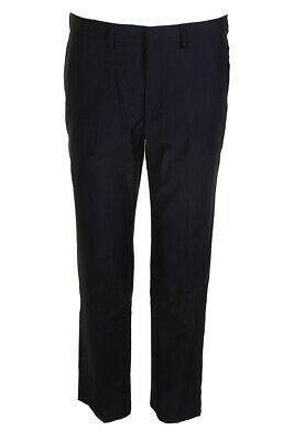 Ryan Seacrest Distinction Mens Navy Solid Modern Fit Flat Front Dress Pants Clothing, Shoes & Accessories