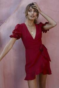 Seems Like Yesterday Dress Wine - Size 10 West End Brisbane South West Preview