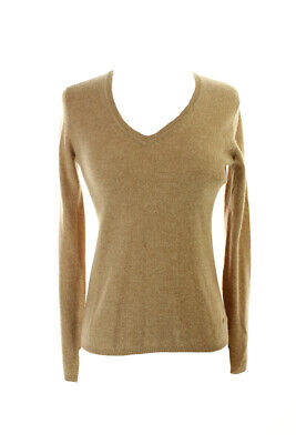 Charter Club  Camel Long-Sleeve Cashmere V-Neck Sweater Clothing, Shoes & Accessories
