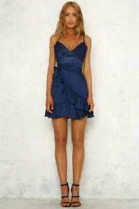 Angels Calling Us Dress in Navy by Hello Molly Size 10 West End Brisbane South West Preview