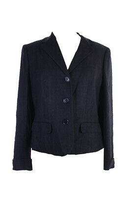 Lauren Ralph Lauren Black Textured Silk Linen Herringbone Blazer 12 Clothing, Shoes & Accessories