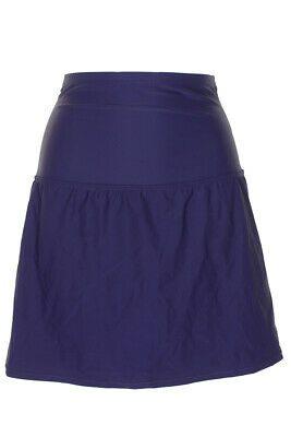 NWT Island Escape Bikini Bottom Skirt High Waist Control Skirtini Navy Sz 10