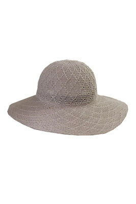 Collection Xiix Grey Textured Expansion Floppy Hat OS Clothing, Shoes & Accessories
