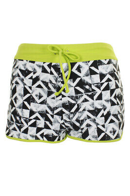 Go By Gossip Black White Printed Contrast-Trim Swim Shorts XL Clothing, Shoes & Accessories
