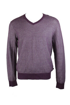 Michael Kors Purple Tuck Stitch V-Neck Sweater L Clothing, Shoes & Accessories