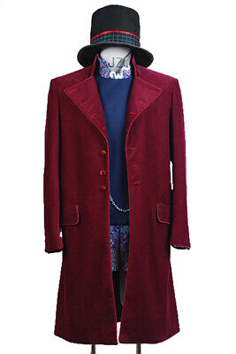 Willy Wonka Charlie and the Chocolate Factory Johnny Depp Cosplay Suit Costume](Johnny Depp Willy Wonka Costume)