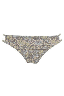 O'Neill Grey Multi Floral Print Cadence Strappy Cheeky Bikini Bottom XS Clothing, Shoes & Accessories