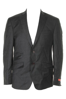 Tallia Mens Charcoal Slim-Fit Sharkskin Jacket 40S Clothing, Shoes & Accessories