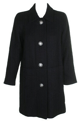 Inc International Concepts Black Textured Walker Coat S Clothing, Shoes & Accessories