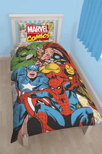 Marvel Justice League Bed cover Comic Bed Set Children Kids Set 135x200 new
