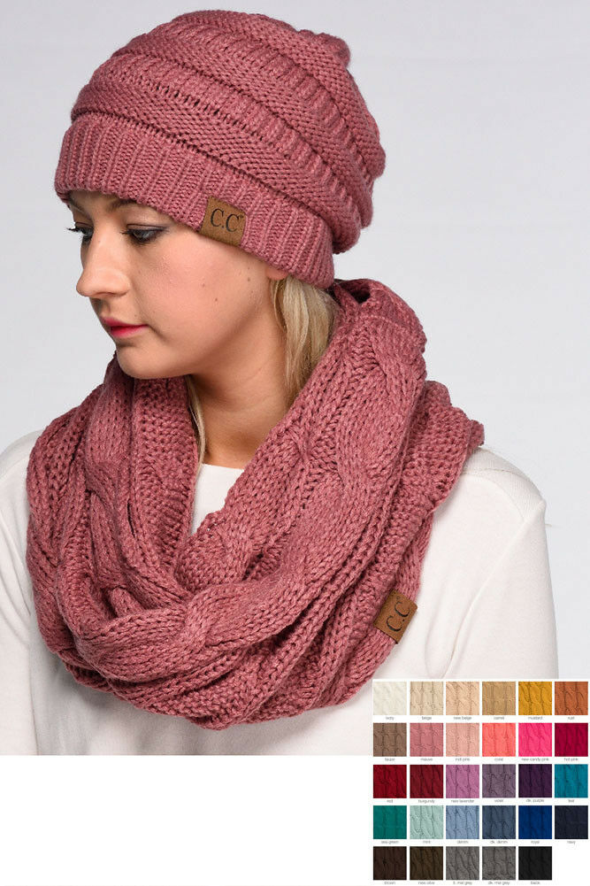 Scarf - ScarvesMe CC Women Fashion Knitted Weaved Infinity Loop Scarf