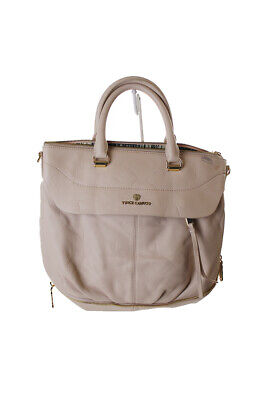 VINCE CAMUTO  RICH CREAM DEAN SATCHEL Clothing, Shoes & Accessories