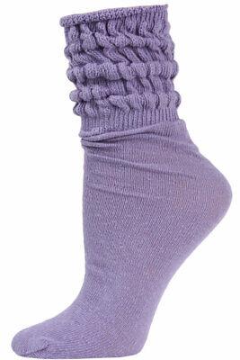 Millennium Women's Slouch Socks - 1 Pair - Lilac -