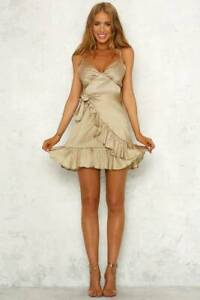 Angels Calling Us Dress in Gold by Hello Molly Size 10 West End Brisbane South West Preview