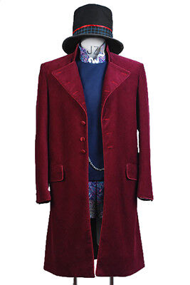Charlie and the Chocolate Factory Johnny Depp Willy Wonka Cosplay Rouge Costume](Johnny Depp Willy Wonka Costume)