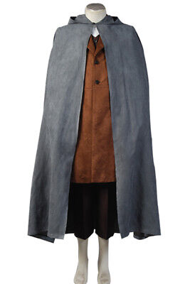 The Lord of the Rings Frodo Baggins Cosplay Costume Cape Coat Outfit Full Set