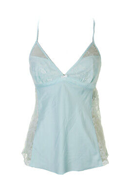 Betsey Johnson New Blue Sultry Satin Fly Camisole  S $65 Clothing, Shoes & Accessories