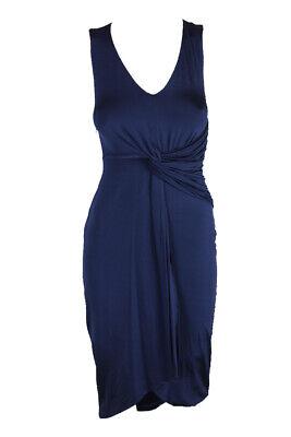 Catherine Malandrino Eléctrico Azul Marino Paola Drapeado Asimétrico Vestido XS