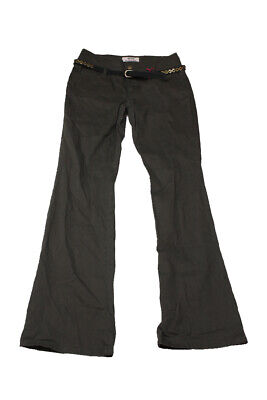 Be Bop Juniors Brown High-Waist Bootcut Belted Pants 9 Clothing, Shoes & Accessories