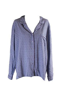 Alfani Blue Mini-Floral Pajama Set XXL Clothing, Shoes & Accessories