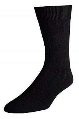 Men's Extra Soft Ribbed Crew Dress Modal Socks ()