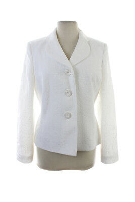Le Suit New White Textured 3-Button Blazer 8 $200 Clothing, Shoes & Accessories