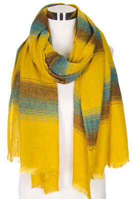 Jinscloset Women's Fashion Extra Long Striped Warm Scarf Extra Long Fashion Scarf