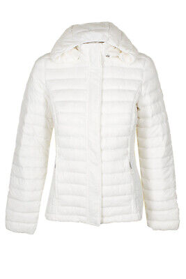 32 Degrees White Ultra Light Down Packable Hooded Puffer Coat S Clothing, Shoes & Accessories
