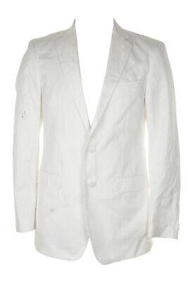 Calvin Klein White Cotton Blazer 40L Clothing, Shoes & Accessories