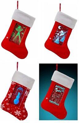 YEW Stuff POP Lights LED Light Up Christmas Stockings 4-Pack](Led Christmas Stockings)