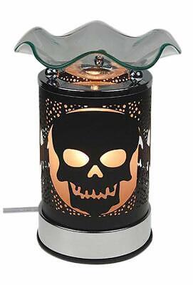Electric Glass Oil Wax Melt Warmer Tart Burner Skull Design Touch -