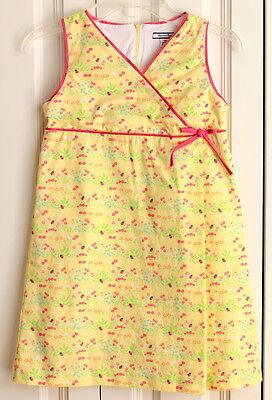 Garden Themed Dress (Girls Hartstrings Sz 6X Garden Theme Lady Bug Yellow Dress)