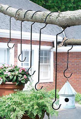 Outdoor Plant Hanger Hooks - Set of 6, by Collections Etc