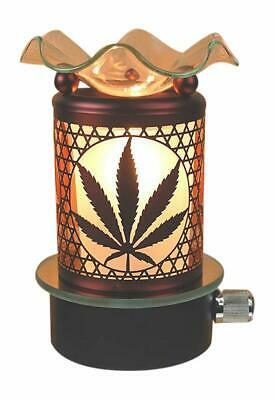Marijuana Pot Leaf Plug in No Cord Oil Wax Melts Warmer Burner Night Light -