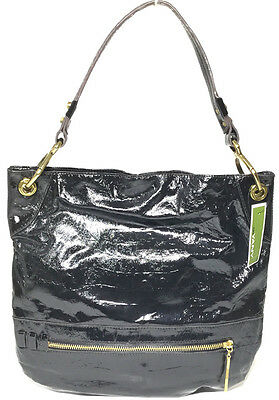 NWT orYANY Lucy Croco Patent Leather Hobo, Black Color, MSRP: -