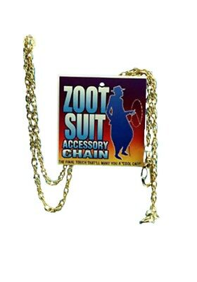 Zoot Suit Gold Chain Costume Accessory 20s Gangster Mobster Pimp Roaring (Zoot Suit Chain)