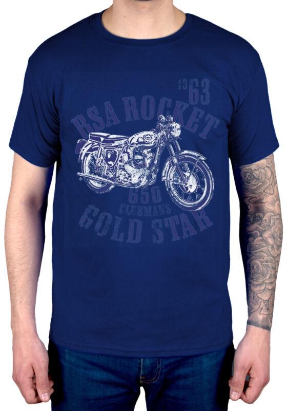 Officiel BSA Rocket Gold Star T-shirt Unisexe Birmingham moto motorcycle 60 s