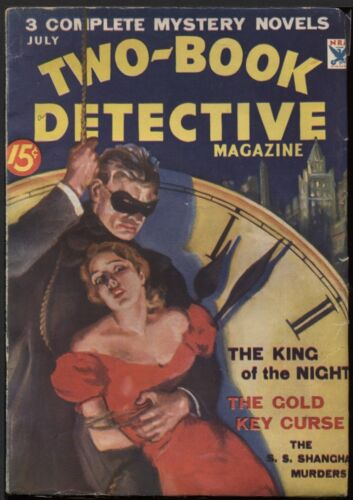 Two-Book Detective Magazine 1934 July.   Pulp.