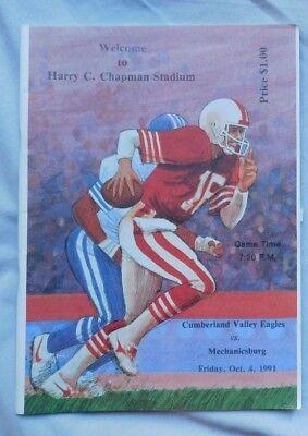 Cumberland Valley Eagles High School Vs Mechanicsburg Pa Program 10/4/91