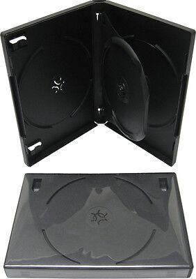 (1) DV3R22BKWT Triple Three Disc 3 DVD Box Case Black Multi 22MM With Tray NEW