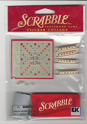 Hasbro Game Stickers - Jolee's Hasbro SCRABBLE 3D Stickers game entertainment