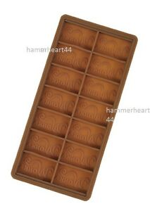 WILLY WONKA DIY Chocolate Bar Casting Mold Mould 7.5'' x 3.5''