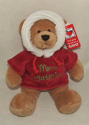 Ganz Christmas Message Hoodie Plush Bear (hx10813) See Message Selection