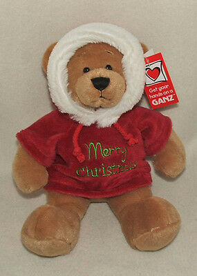 Ganz Christmas Message Hoodie Plush Bear (hx10813) See Message Selection