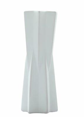 Ceramic Vase Modern White Table Living Room Home Decoration Elegant Origami Art - White Ceramic Vase