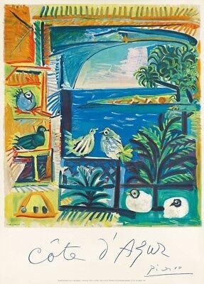 COTE D'AZUR, FRANCE, by Picasso. French Travel Poster. 250gsm A3 Print, usado segunda mano  Embacar hacia Spain